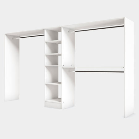 Amenagement De Placard Blanc 5 Tablettes 3 Penderies Kazed